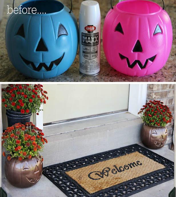 DYI Fall Decoration - Pumpkin Candy Holder Revamp