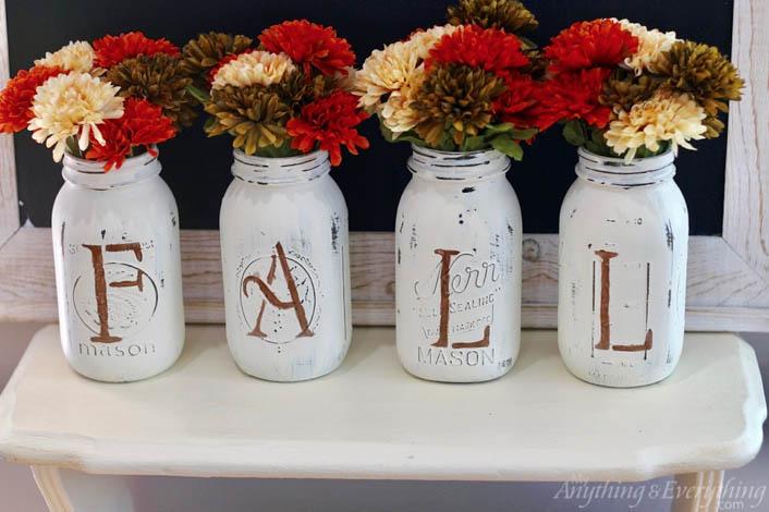 DYI Fall decorations - Fall Mason Jars