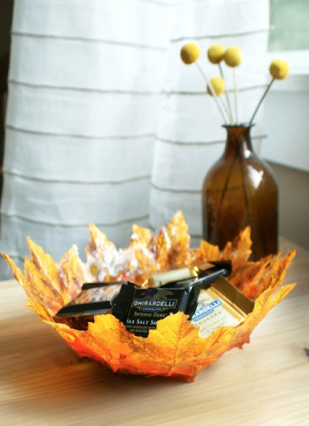 DYI Fall Decor - Autumn Leaf Bowl