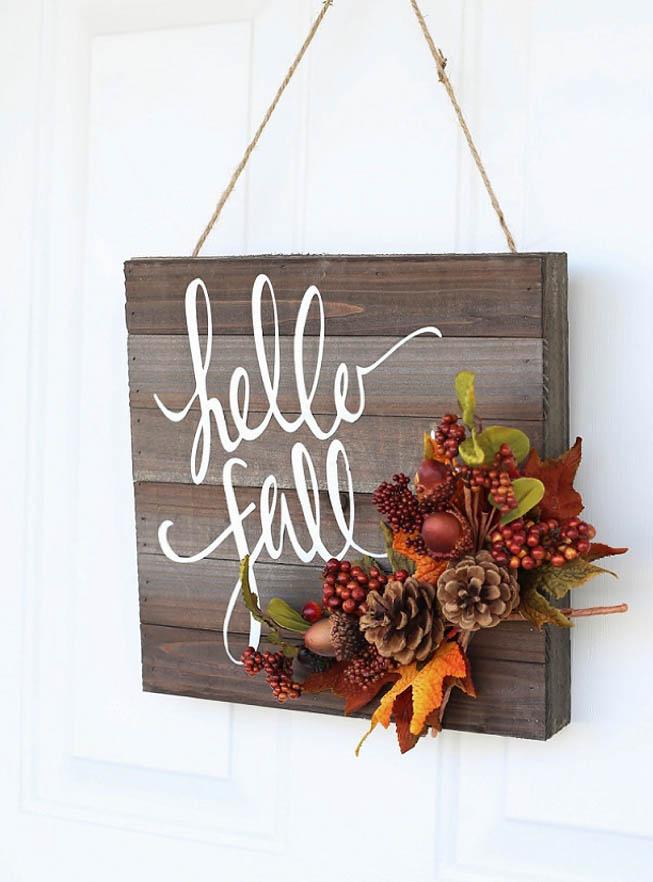 DYI Fall Decor - Hello Fall Door Hanger