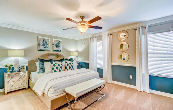 Home-staging master bedroom